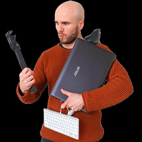 Laptop werkplekpakketten met voordeel
